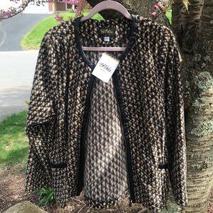 Bob Mackie zip-front lightweight fleece jacket
